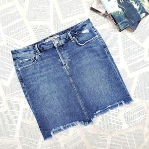 JOE'S Distressed Denim Skyler Pencil Skirt 29